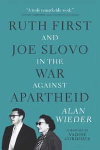 book cover, Ruth First and Joe Slovo
